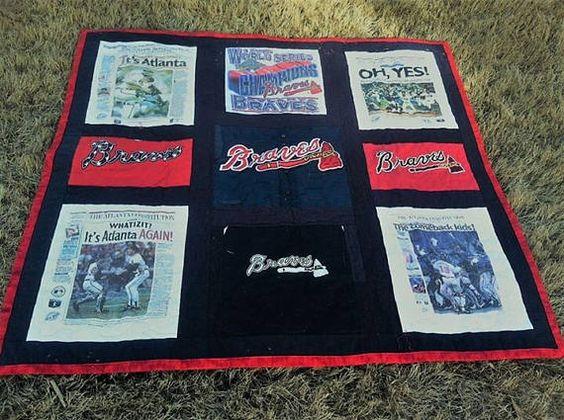 Braves T-shirt Quilt