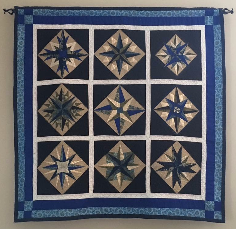 Mariner's Compass Wall Quilt