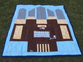 Pipe organ quilt