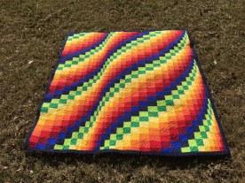 Rainbow Bargello Quilt