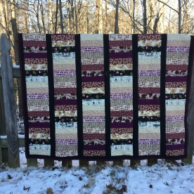 Wine Lap Quilt with flannel back