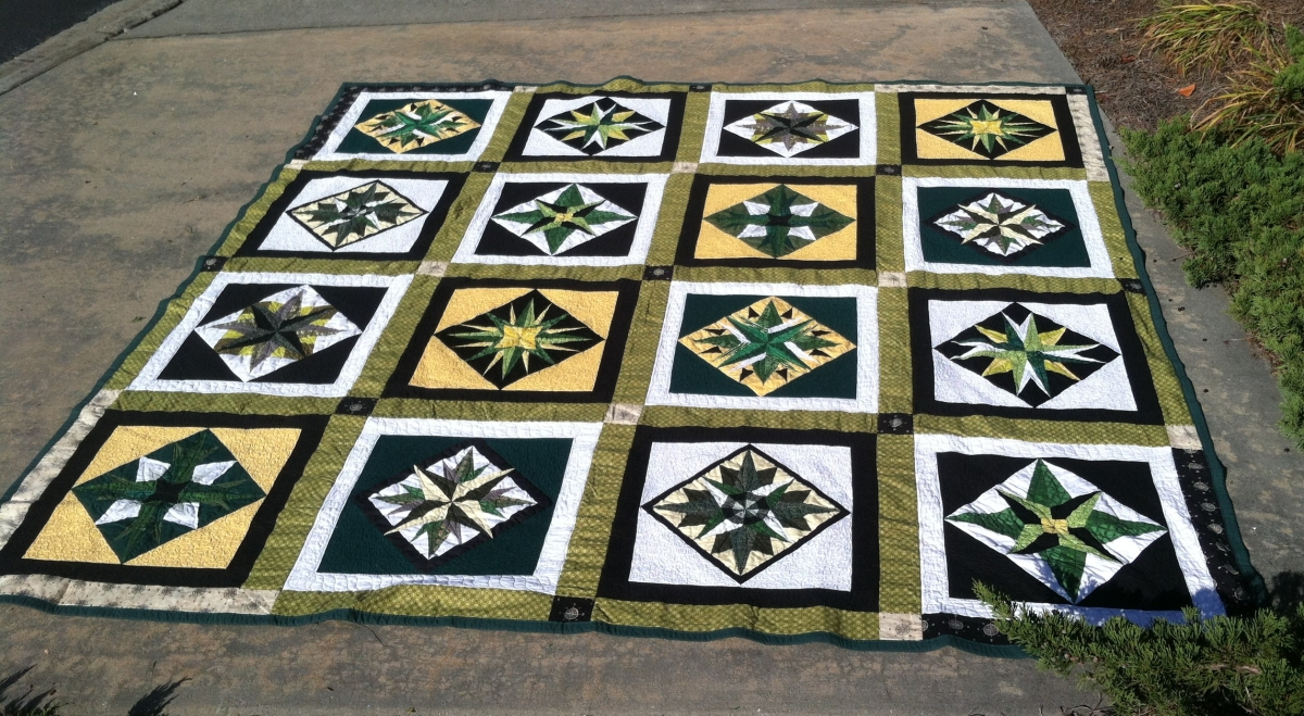 Mariner Compass King Quilt