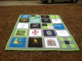 An Odyssey of the Mind quilt for a graduating senior.