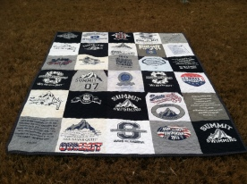 Swim team t-shirt quilt