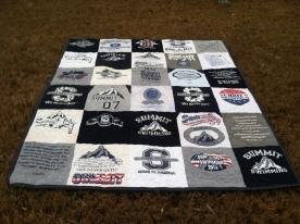 Swim team t-shirt quilt