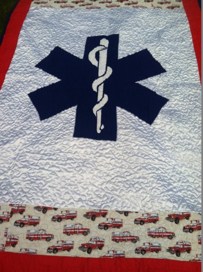 I used reverse applique and loved how the Star of Life turned out.