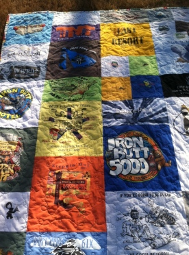Motorcycle memory quilt
