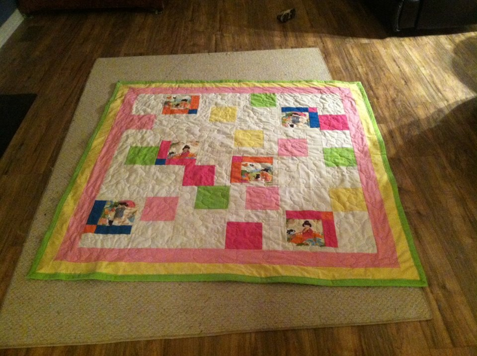 Asian-themed Girly Quilt