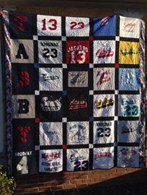 Softball Jersey Quilt