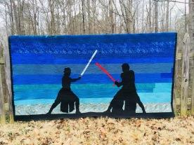 Rey and Kylo Ren Twin Quilt