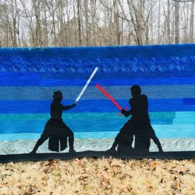 Rey and Kylo Ren Twin Quilt