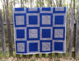 Blue and Gray Lap Quilt