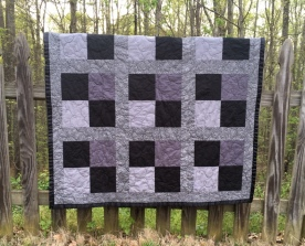 Black and Gray Lap Quilt