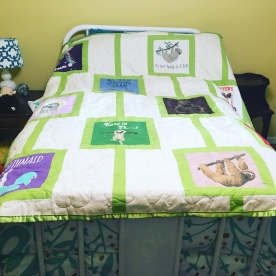 Sloth T-shirt Quilt