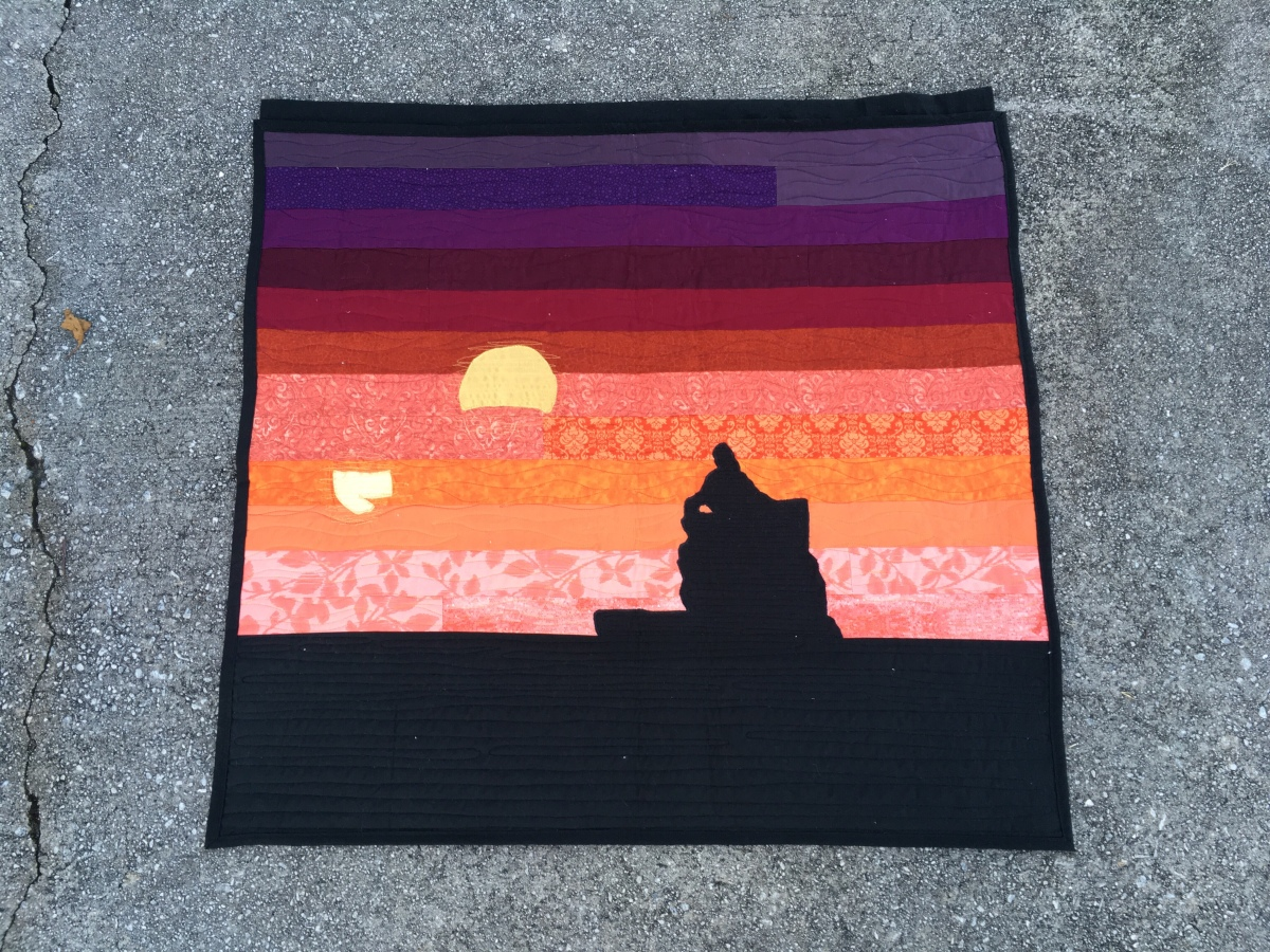 Luke's Last Sunset Wall Quilt