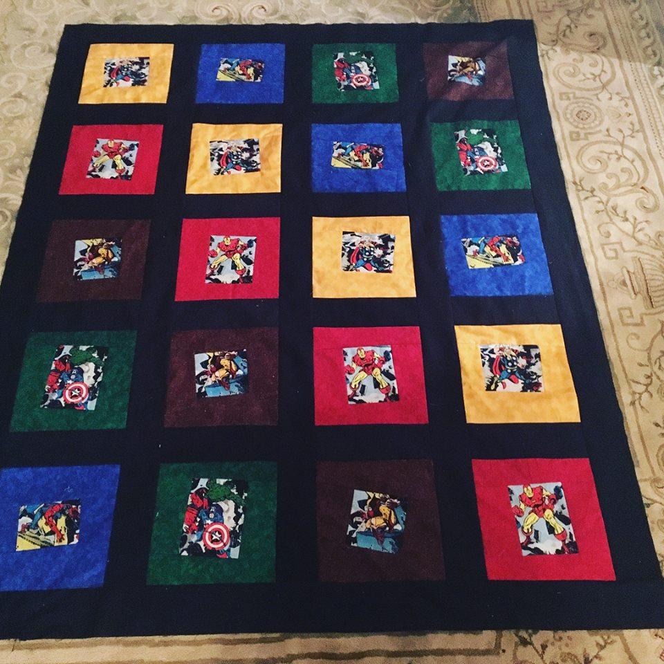 comic book quilt