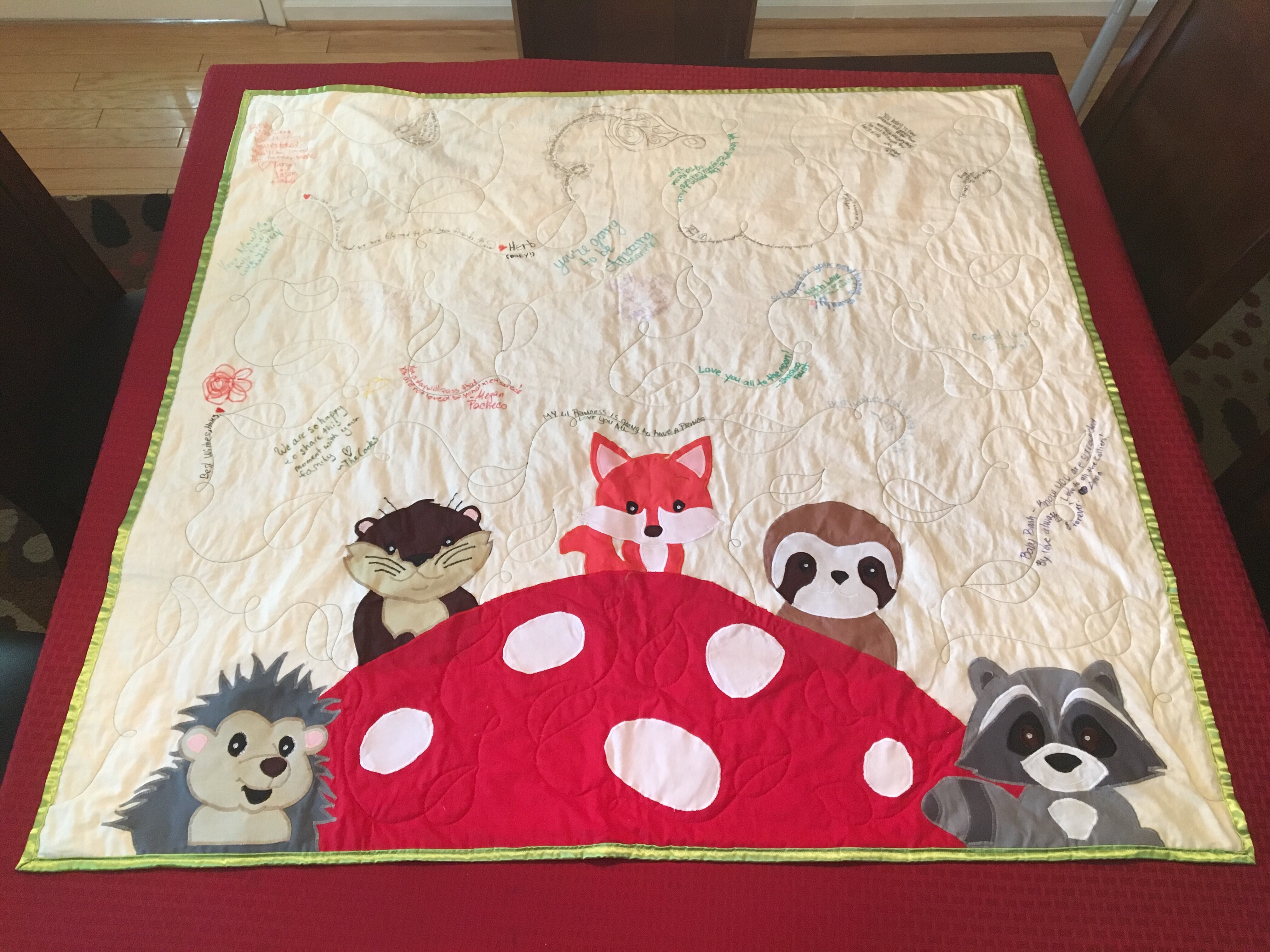Woodland creatures baby quilt u quest quilts