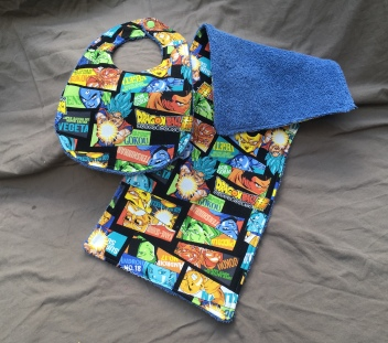 DBZ Blue bib set