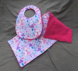 Princess Pink bib set