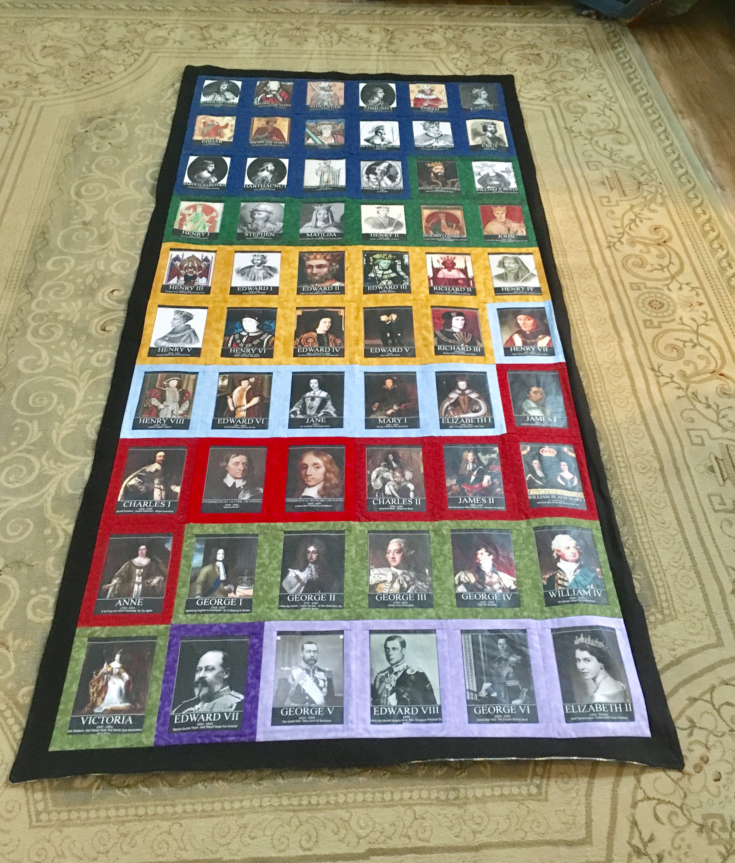 British Monarchs Wall Hanging