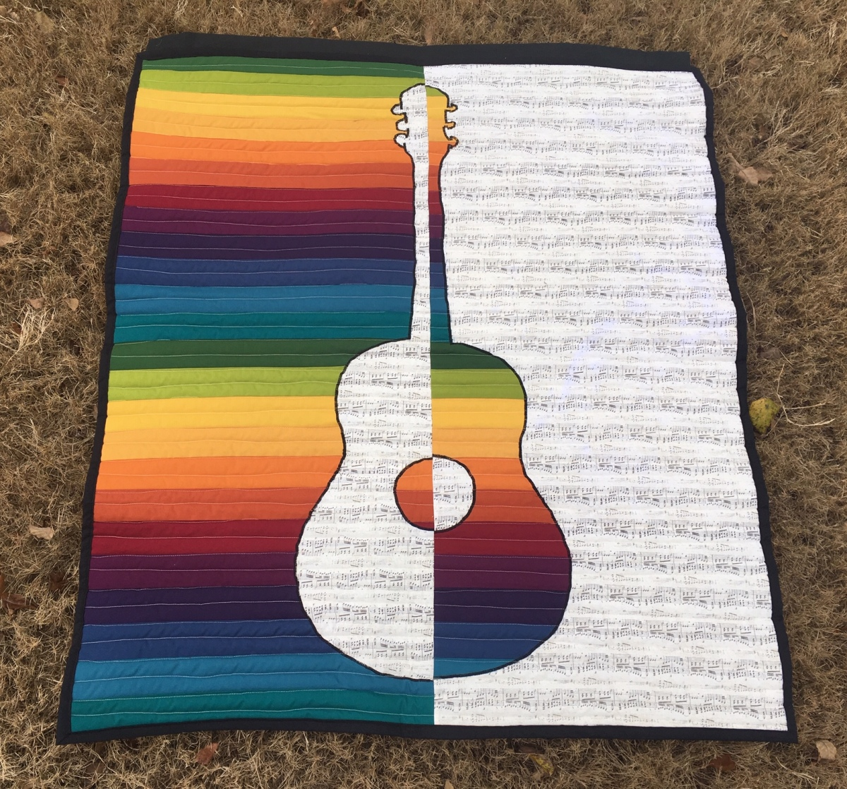 Rainbow Guitar Wall Quilt