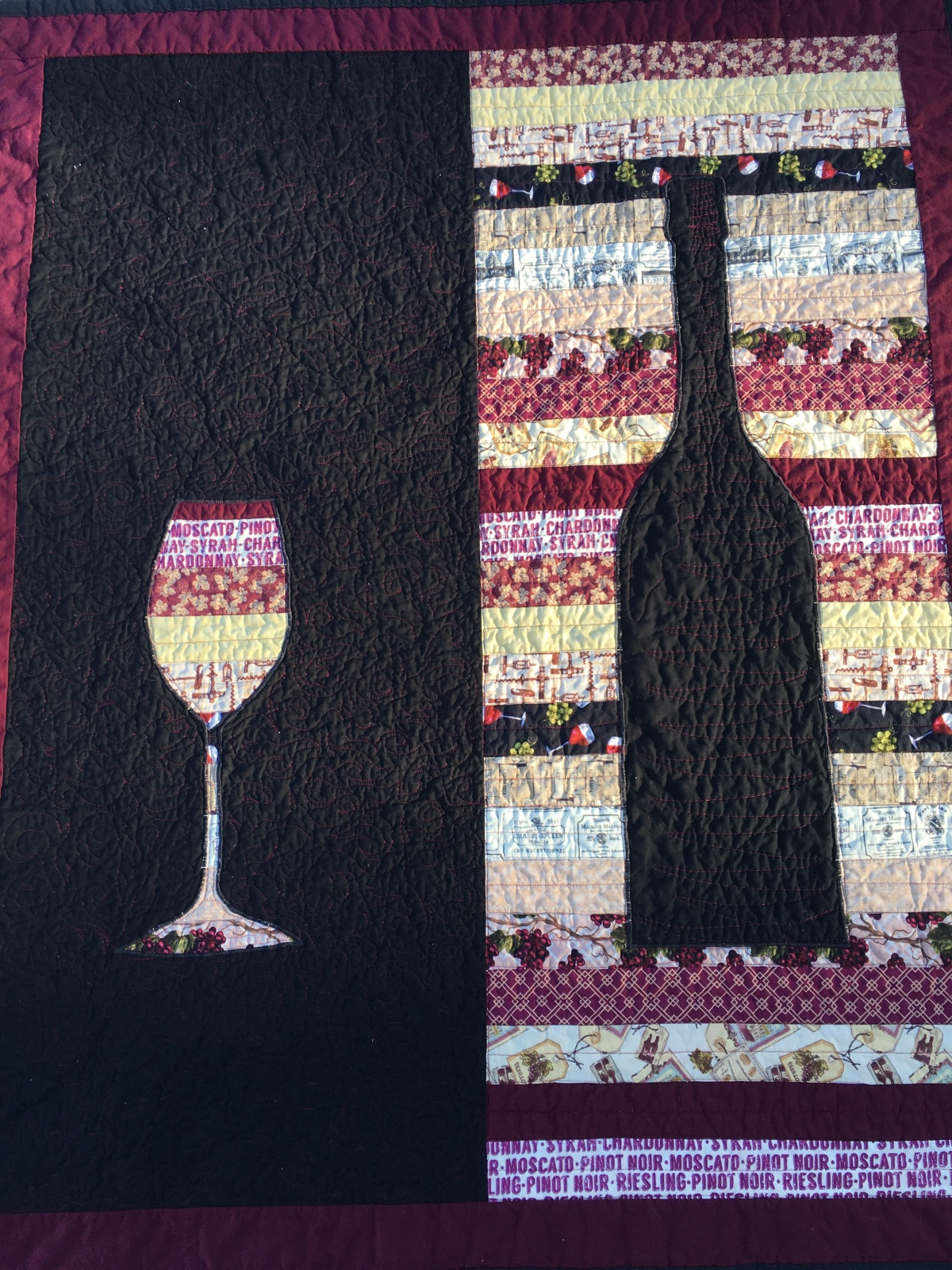 Wine Silhouette Quilts