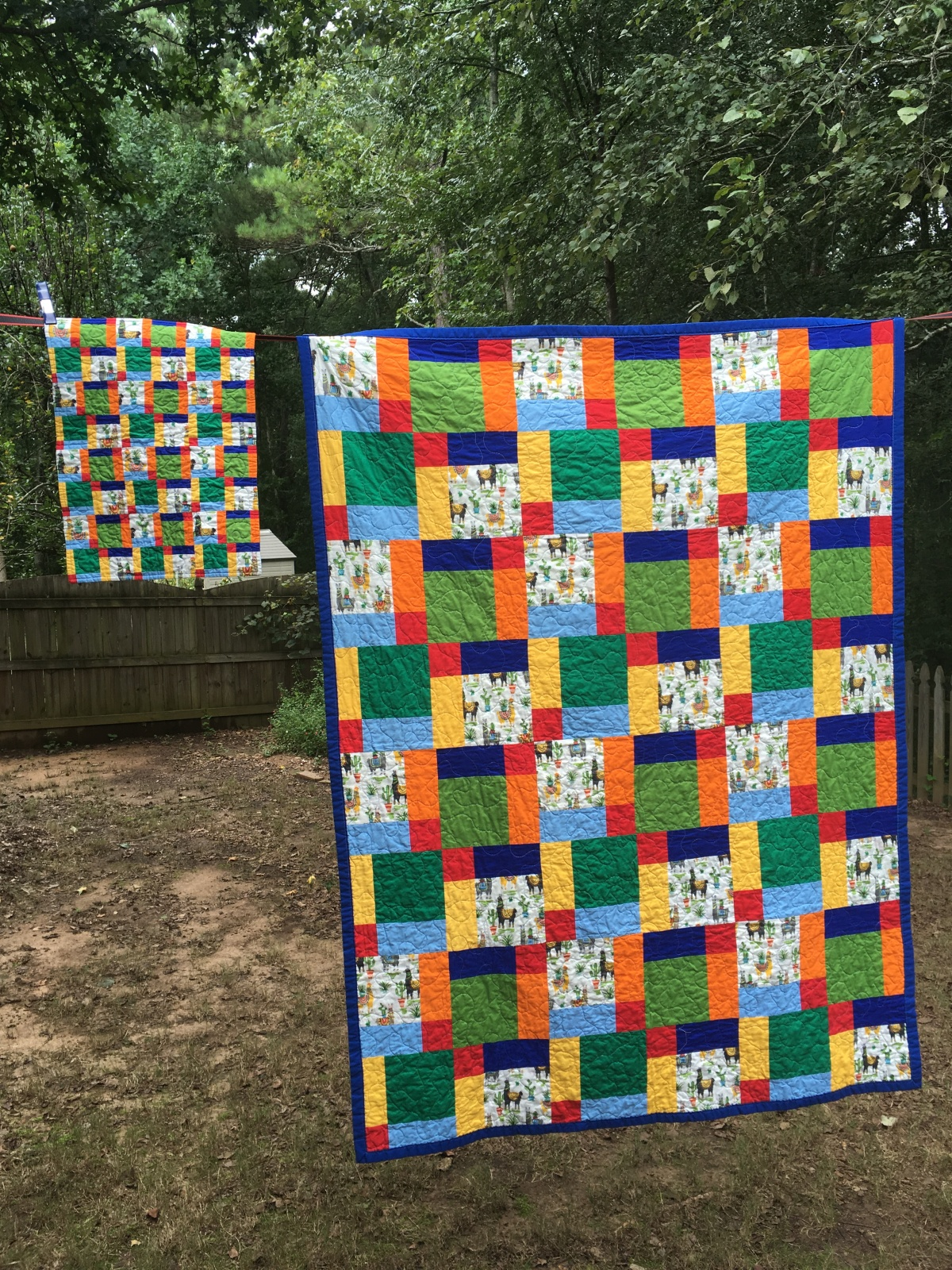 Online Market Quilt Showcase 2 – the child's quilt sets with matching teddy bear/doll quilt
