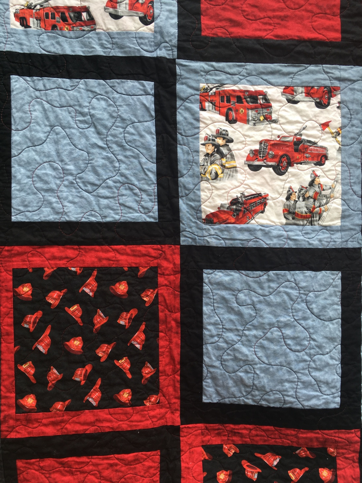 Online Market Quilt Showcase 9 – Science, Firefighters, and Boy Scout Quilts